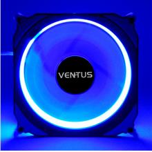 Super Quiet Ventus 12 cm Lune Blue 15 LED ring casing fan