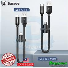 Baseus 2 in 1 Cable Lightning Micro USB Type-C Mobile Phone Power Bank