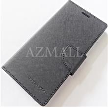 """MERCURY Fancy Diary Stand Case Flip Cover for Oppo F7 (6.23"""") ~BLACK"""