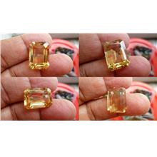 SUPERB  STEP CUT YELLOW QUARTZ CRYSTAL