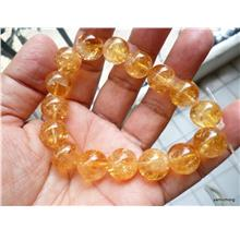 GOLDEN YELLOW CITRINE  CRYSTAL BRACELET FREE  BUDDHA  SARIRAS