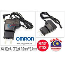 Omron 6V 500mA Power adapter for Blood pressure Meter HEW-ACW5 HEM-7201 HEM-71