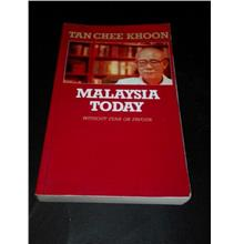 MALAYSIA TODAY - TAN CHEE KHOON BOOK