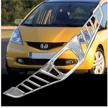 [8730]  Honda Jazz Fit Chrome Front Grill Grille Cover Trim Set Overla