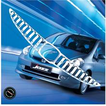 [8200]  Honda Fit Jazz Chrome Front Grill Grille Cover Trim Set Overla
