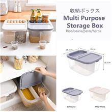 Multi-Purpose Storage Box For Rice Bean Pasta Herbs