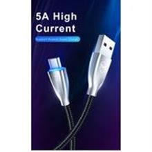 Mcdodo CA-5420 Type C Fabric Braided LED 5A 1M Data USB Charging Cable