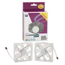 COOLER MASTER 12CM SILENT LED COOLING FAN TWIN PACK (R4-L2S-122B-GP)
