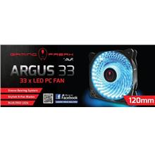 Gaming Freak Argus 33 LED 12cm Case Fan - Blue/Green/Red/White