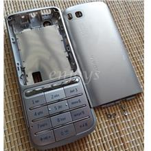 Enjoys: AP ORIGINAL HOUSING for Nokia C3-01 Touch and Type ~SILVER