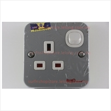 Euro Guard EG-8119C Metal Clad 13A 1 Gang 1 Way Switched Socket Outlet