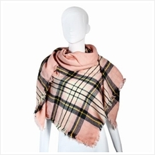 CASUAL GRID DESIGN LADIES WARM SCARF (SHALLOW PINK)