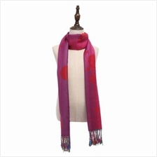 CASUAL NATION WIND COLORFUL BUTTERFLY DUAL USE LADIES TASSEL SCARF (RED)