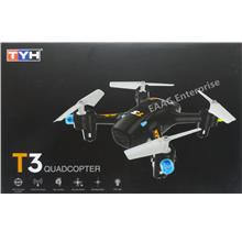 TYH T3 19cm 2.4G 4 axis RC Quadcopter Drone UFO Black