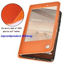 Make mate Huawei Mate 9 Flip Cow Leather Smart Case Cover Casing