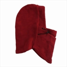 NOVEL PURE COLOR THICKENING WIND RESISTANCE FACE MASK (CLARET)