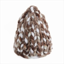 STYLISH FEMALE WINTER WARM THICK STICK KNITTED HAT COARSE LINES