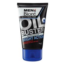 MEN'S BIORE Oil Buster Bamboo Charcoal Facial Foam 100g
