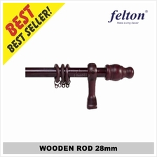 Wooden Rod 28mm FWCR 4'/5'/6'/7'/8ft