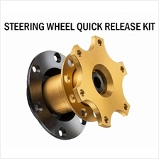 Gold Steering Wheel Quick Release Hub Adapter Removable Snap Off Boss
