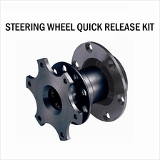 Black Steering Wheel Quick Release Hub Adapter Removable Snap Off Boss