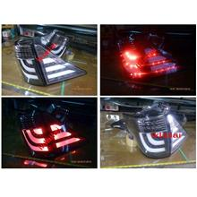 Toyota Alphard '08 Vellfire '09 Tail Lamp LED+Light Bar Black Housing