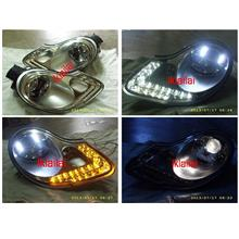 Porsche Boxster 986 996 '97-04 Projector Head Lamp LED Signal+DRL