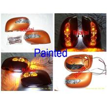 Nissan Livina LED Side Mirror Cover with Foot Lamp Painted