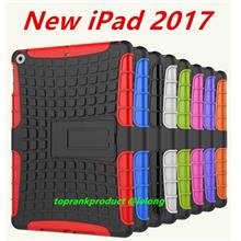 Apple New iPad 2017 9.7inch PC+TPU Back Armor Stand Case Cover Casing
