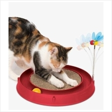 Catit Play Circuit Ball With Scratch Pad - Red