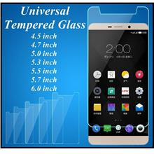 Mobile Phone 4.5 4.7 5.0 5.3 5.5 5.7 6.0 inch Universal Tempered Glass