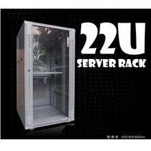 22u Server rack c/w PDU & Fan (New)