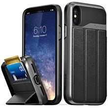 [Free Shipping]Vena iPhone X Wallet Case, [vCommute][Military Grade Drop Prote