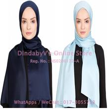 [DindabyV] Set of 2 Woman's Imitate Silk Satin Shawl / Hijab 702A