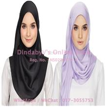 [DindabyV] Set of 2 Woman's Imitate Silk Satin Shawl / Hijab 702H