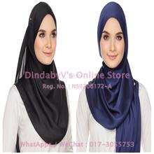 [DindabyV] Set of 2 Woman's Imitate Silk Satin Shawl / Hijab 702F