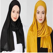 [DindabyV] Set of 2 Woman's Jersey Shawl / Hijab 702D