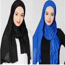 [DindabyV] Set of 2 Woman's Jersey Shawl / Hijab 702C