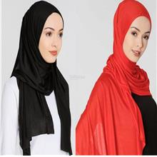 [DindabyV] Set of 2 Woman's Jersey Shawl / Hijab 702A