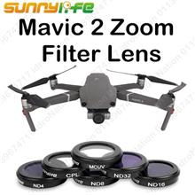 DJI Mavic 2 Zoom Camera Len Filters Sunnylife UV CPL ND4 ND8 ND16 ND32
