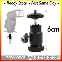 Swivel Mini Ball Head Bracket Holder 1/4 Screw Mount Tripod DSLR Came