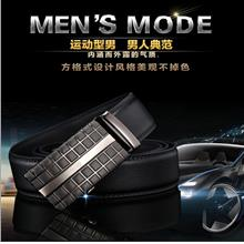 Automatic Buckle Belt Business Youth Casual Men Leather