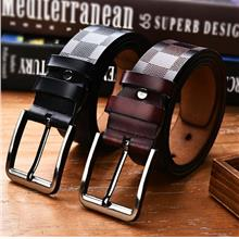 Special Belt Two-layer Casual Leather Buckle Belt Men's