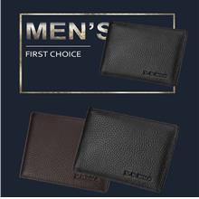 Men's Leather Wallet Ultra-thin Suede Leather Short Wallet