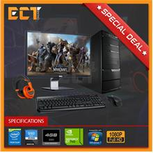 (Refurbished) Budget Gaming Desktop + Dell 23 S2340L FHD IPS Monitor