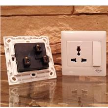 2x Single Universal 1 GANG Electrical Switch Socket MAIN 240V