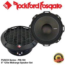 "ORIGINAL ROCKFORD FOSGATE PUNCH USA PM-180 125W RMS 8"" SPEAKER SET"