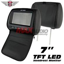 "SKY NAVI 7"" HD TFT LED Screen Leather Car Headrest with Cover Zipper"