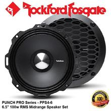 "ORIGINAL ROCKFORD FOSGATE PUNCH USA PPS4-6 100W RMS 6.5"" SPEAKER SET"
