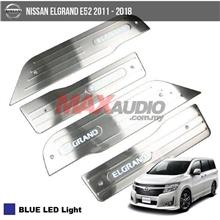 NISSAN ELGRAND E52 11-18 Stainless Steel Car Door Side Plate(Blue)